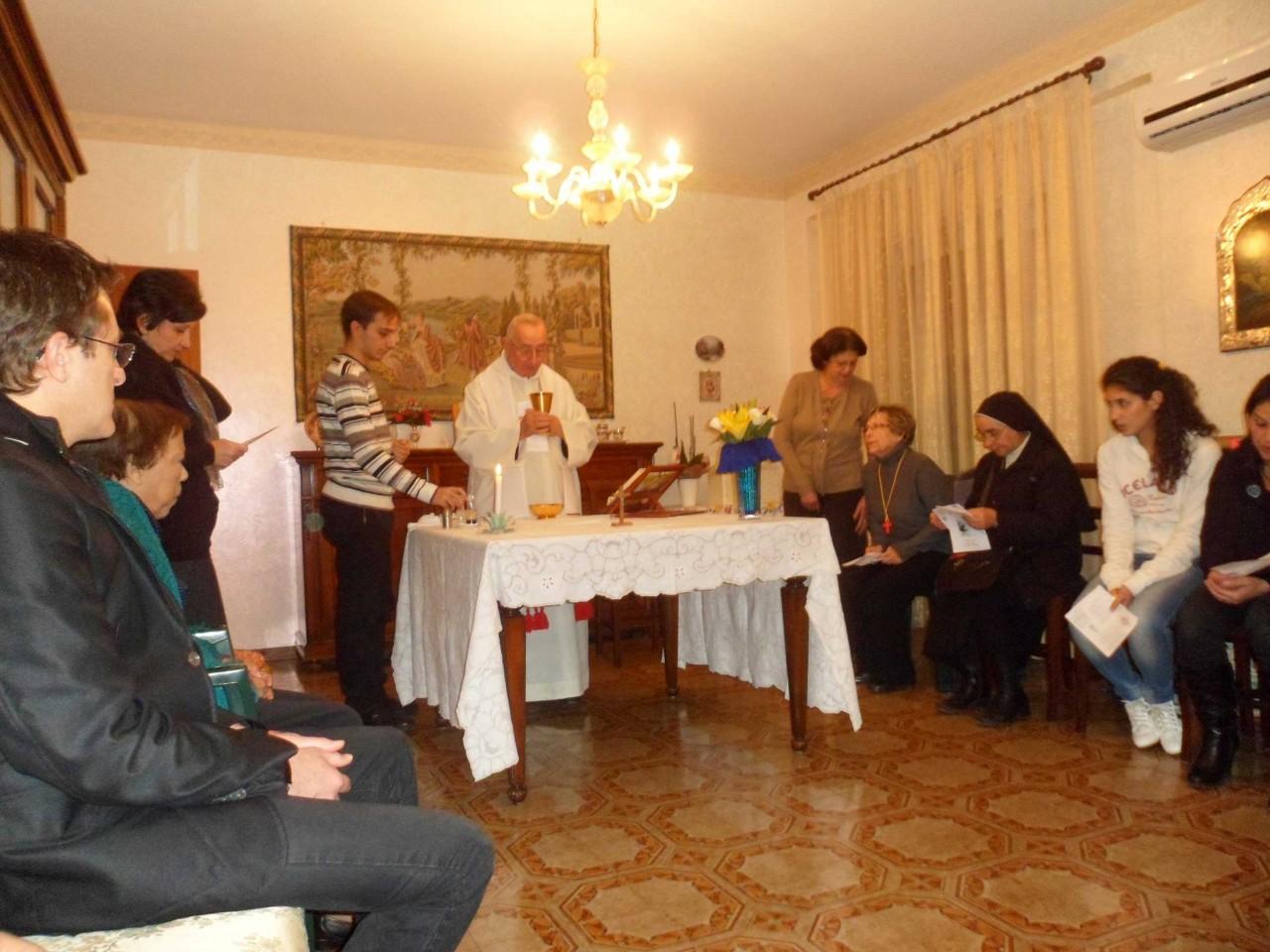 Celebrazione Eucaristica nella casa del malato